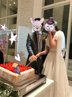 山元・村岡ケーキ入刀